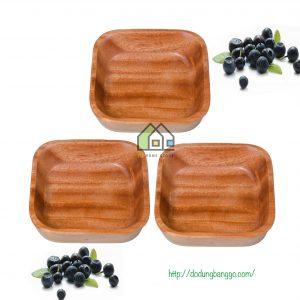 Chén gỗ vuông kiểu nhật