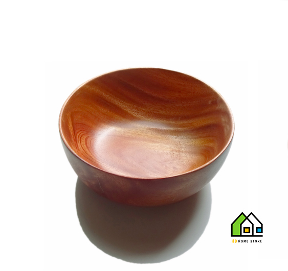 Tô gỗ xà cừ nguyên khối cỡ 15 cm