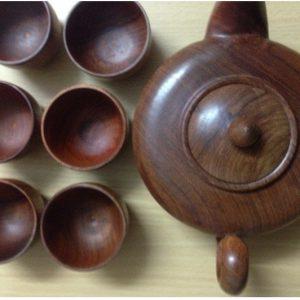 bộ ấm trà gỗ hương