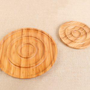 khay gỗ tròn T001