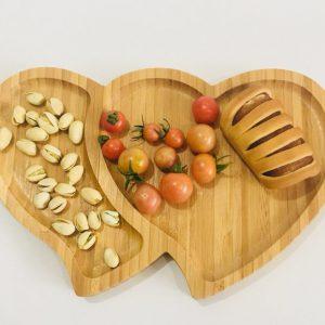 Z001 Khay gỗ hình trái tim