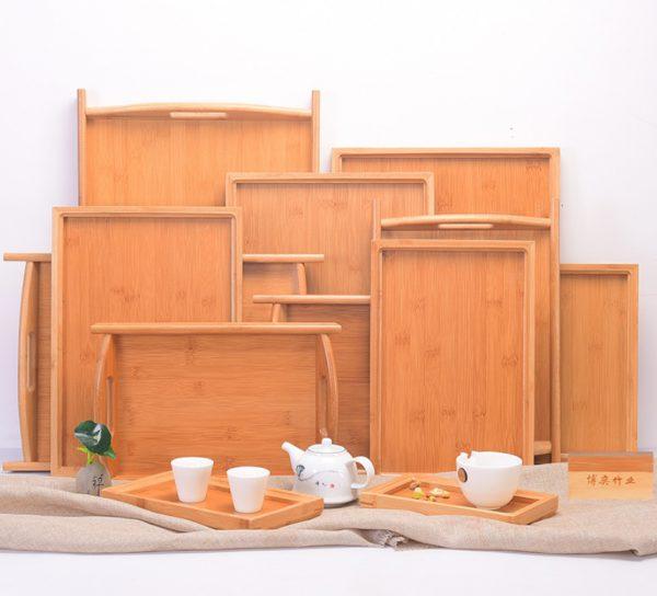 khay gỗ hình vuông