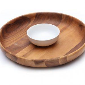 khay gỗ tròn A1
