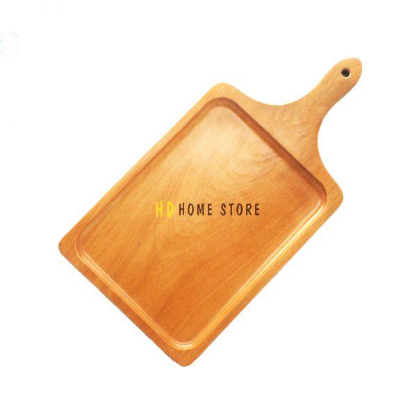 khay gỗ hình chữ nhật có tay cầm