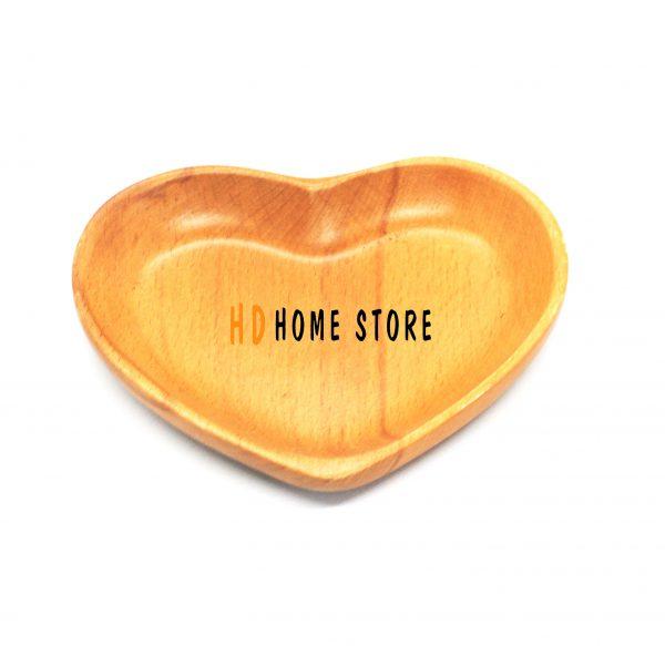 dĩa gỗ hình trái tim