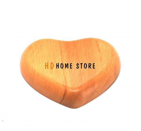 Dĩa gỗ hình trái tim 13.5x11cm