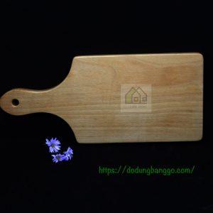 Khay gỗ chữ nhật có tay cầm