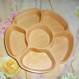 Khay gỗ đựng mứt 28x4cm