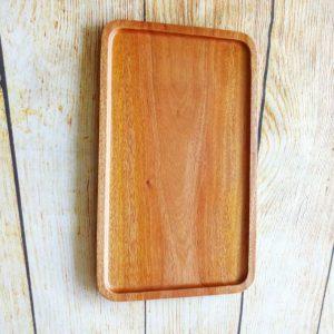 Khay gỗ hình chữ nhật 35x21cm
