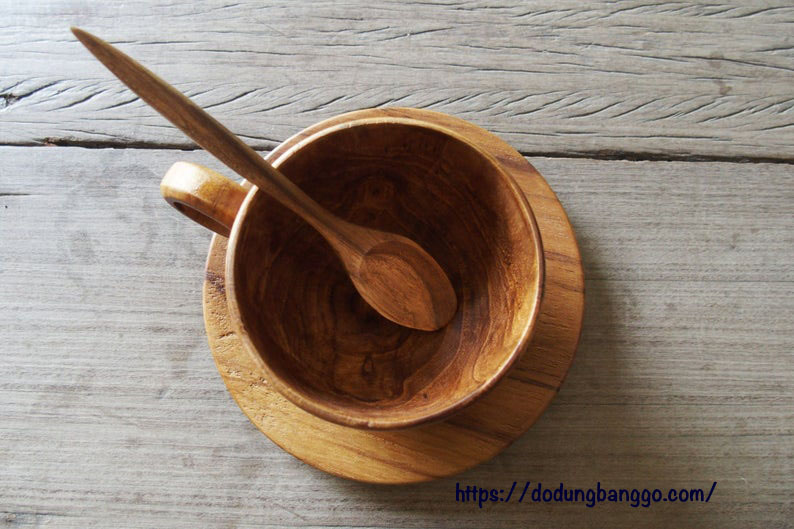ly gỗ để uống trà