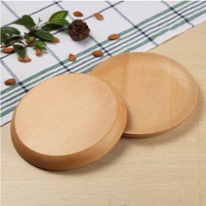 Khay tròn gỗ beech 17cm