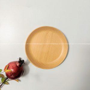 Đĩa tròn gỗ beech 17cm