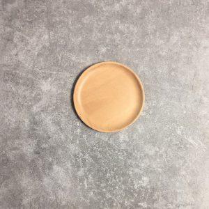 Đĩa tròn gỗ beech 12cm