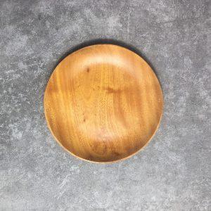 Đĩa tròn gỗ xà cừ 18cm