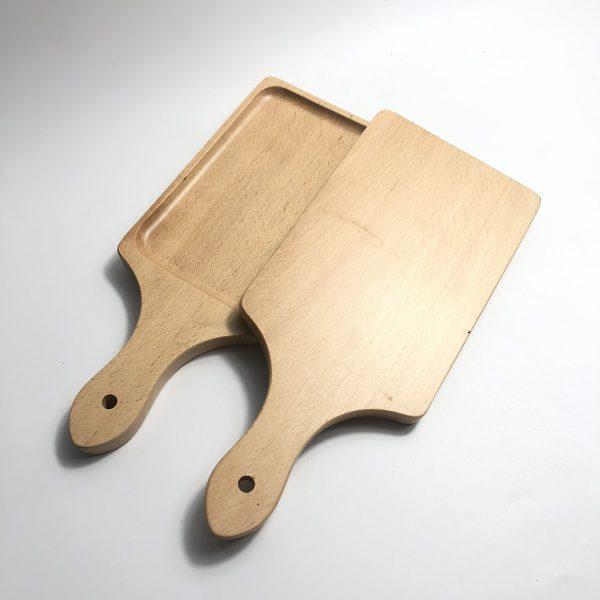 Khay có tay cầm gỗ beech 30x13cm