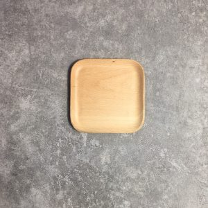 Đĩa vuông gỗ beech 12cm
