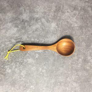 Vá gỗ múc canh tròn nhỏ gỗ xà cừ 18.5x6x3.5cm
