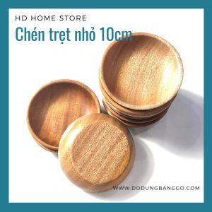Chén chấm gỗ xà cừ 10cm