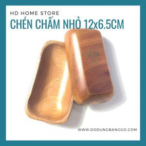 Chén chữ nhật gỗ xà cừ 12×6.5×2.5cm