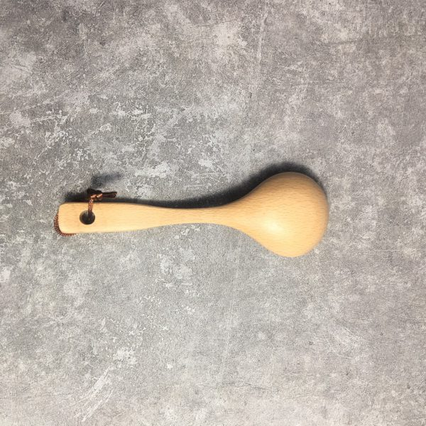 Vá gỗ múc canh tròn nhỏ gỗ beech 18.5x6x3.5cm