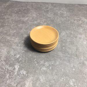 Chén chấm gỗ beech 6x1cm
