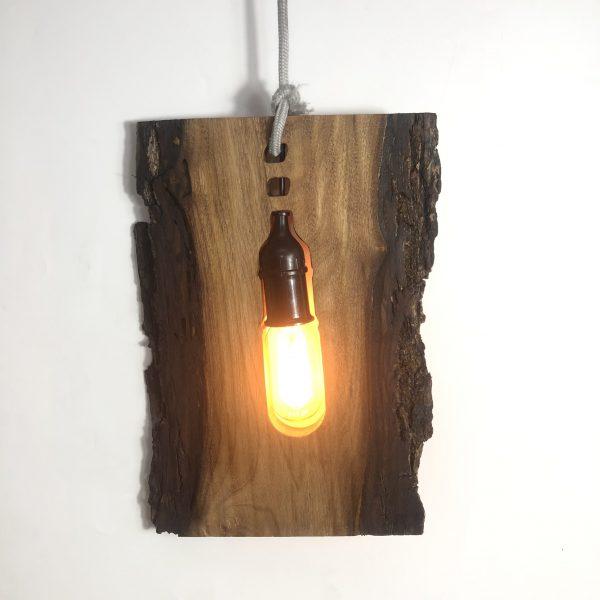 Đèn gỗ thả trần loại bìa