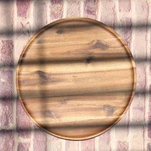 Khay tròn gỗ tràm 30cm