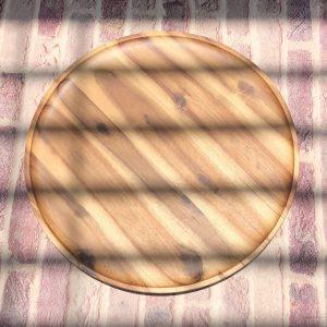 Khay tròn gỗ tràm 35cm