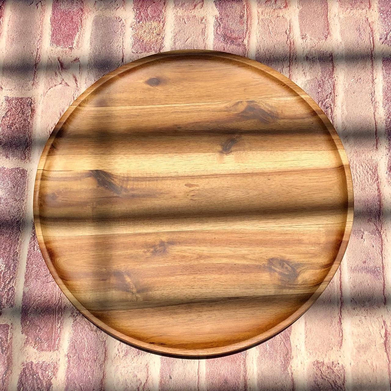 Mâm gỗ tròn 40cm