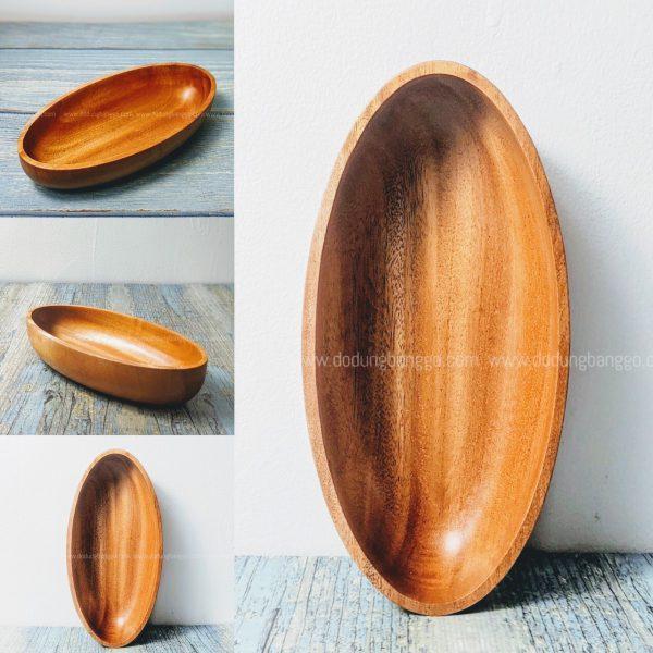 Tô gỗ kiểu thuyền mới lạ 22.5x11x5cm