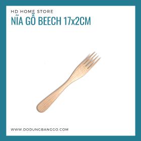 Nĩa gỗ beech 17x2cm