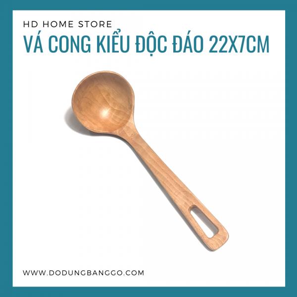 Vá cong kiểu độc đáo gỗ beech 22x7cm