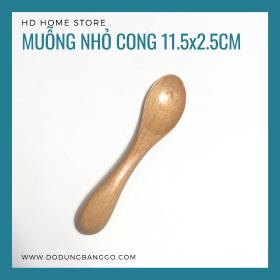 Muỗng cong độc đáo gỗ beech 11.5*2.5cm