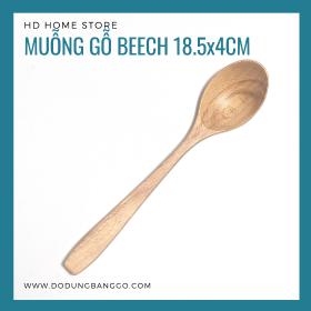 Muỗng gỗ beech 18.5x4cm