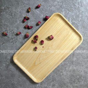 Khay chữ nhật gỗ tần bì 30x18cm