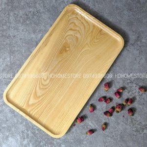 Khay chữ nhật gỗ tần bì 35x21cm