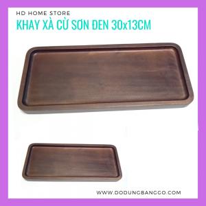 Khay xà cừ sơn đen 30x13cm