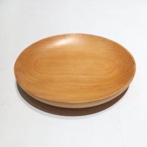 Dĩa tròn sâu lòng gỗ beech 20x3cm